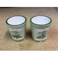 Herb Garden White Set of 2 Sampler Holders