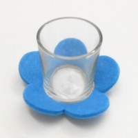 Blue Felt Flower Petal Sampler Holder