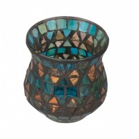 Golden Trellis Flared Tealight Holder