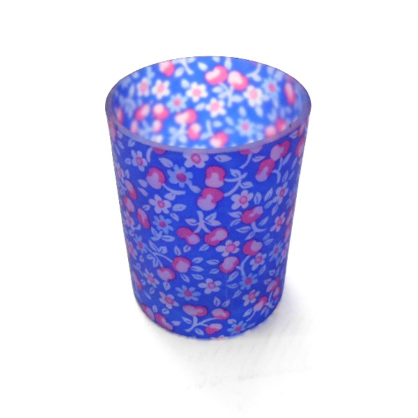 Blue Floral Sampler Holder