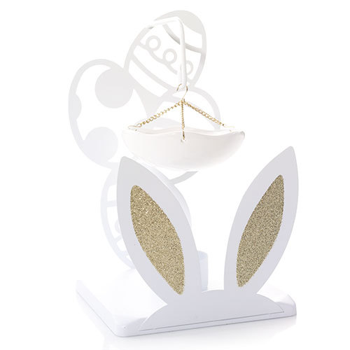 Cottontails Collection Gold Dipped Ears Hanging Burner