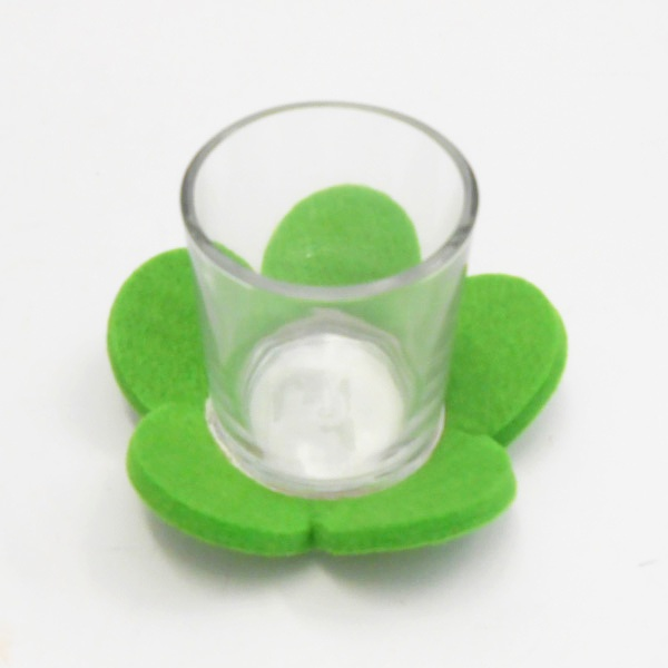 Green Felt Flower Petal Sampler Holder