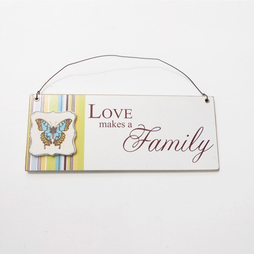 Love Butterfly Hanger Plaque