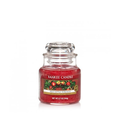 Red Apple Wreath Small Jar