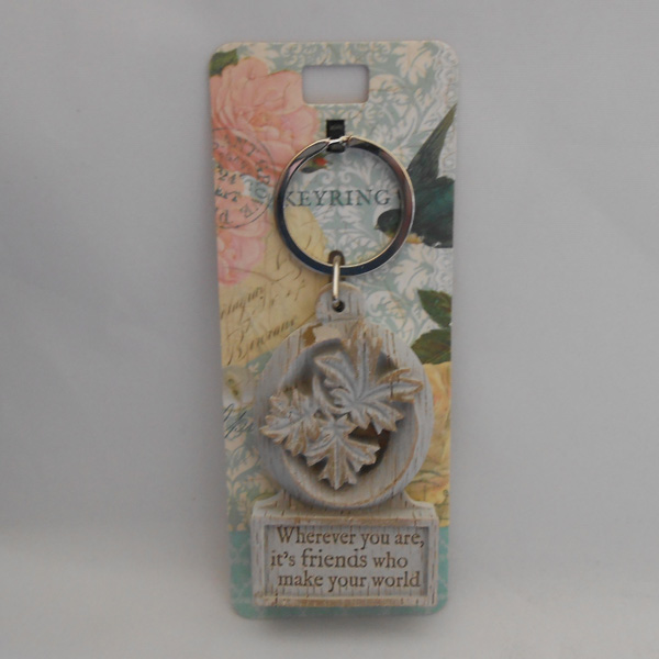 Letter O Driftwood Keyring - Wherever you are ....