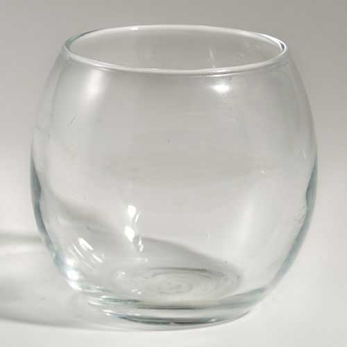 Clear Glass Roly Poly Tealight Holder