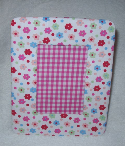 Multi Coloured Flowers Fabric Photo Frame