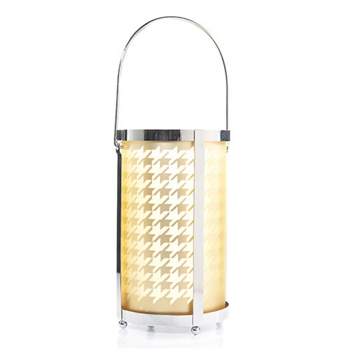 Houndstooth Flickering Lantern