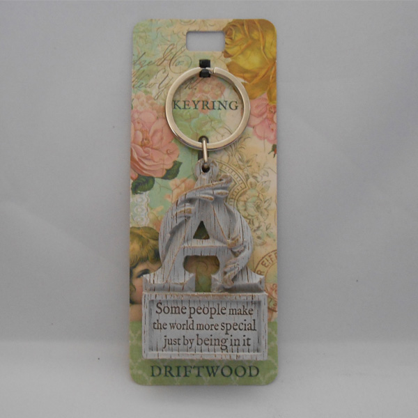 Letter A Driftwood Keyring - Some people make ....